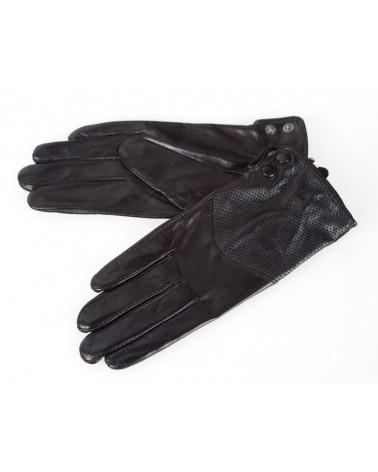 Rękawiczki damskie skórzane insignium ir542kc czarny