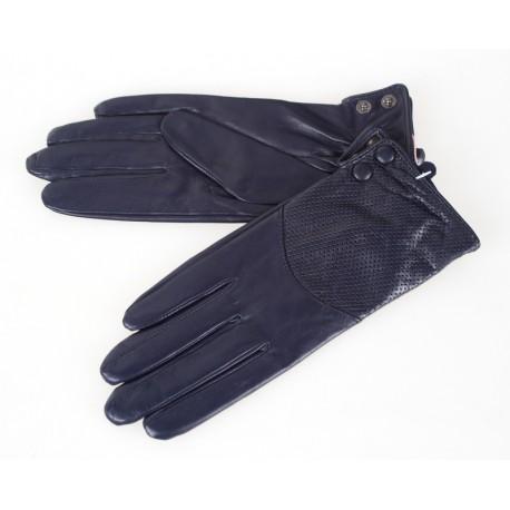 Rękawiczki damskie skórzane insignium ir542kt granat
