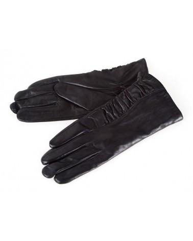 Rękawiczki damskie skórzane insignium ir544kc czarny