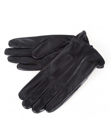 Rękawiczki męskie skórzane insignium ir228kc czarny