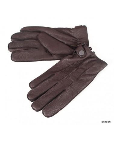 Rękawiczki męskie skórzane insignium ir227db brąz