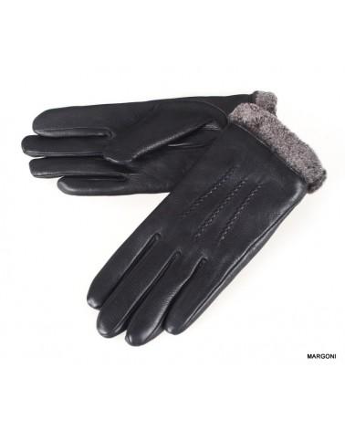 Rękawiczki damskie skórzane insignium ir545dc czarny