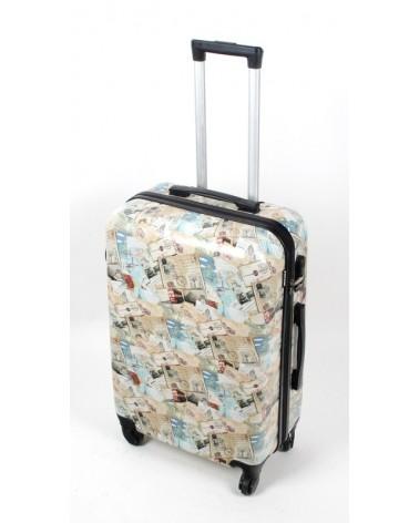Średnia walizka bagia 24 bl30 post cards