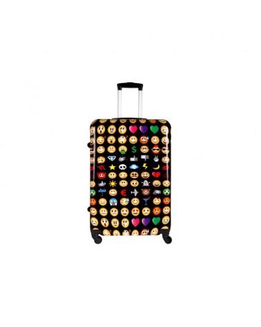 Średnia walizka Bagia emotikon 24 bl 23