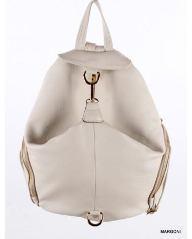 Plecak damski skórzany 510 beżowy