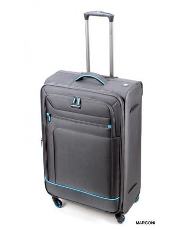 Duża walizka viaggiatore 28 mv106 szara