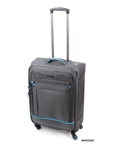 Średnia walizka viaggiatore 24 mv106 szara