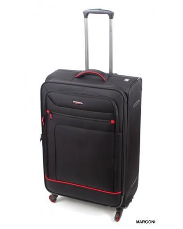 Duża walizka viaggiatore 28 mv106 czarna