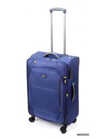 średnia walizka viaggiatore 24 mv105 niebieska
