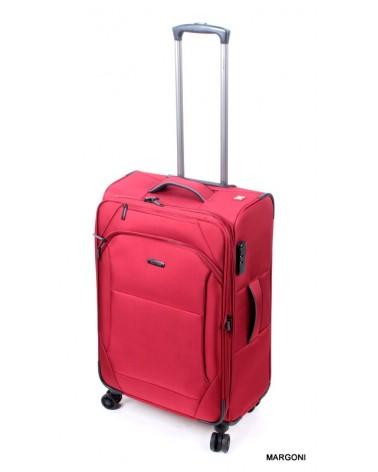 średnia walizka viaggiatore 24 mv105 czerwona