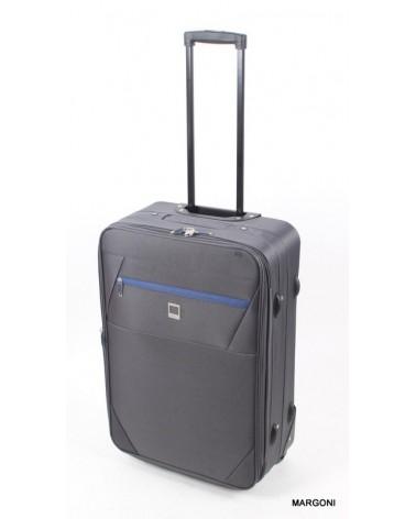 Średnia walizka viaggiatore 23 mv304 szara