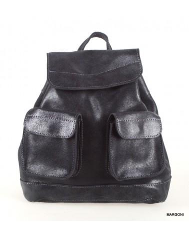Plecak damski skórzany tsm1601 czarny