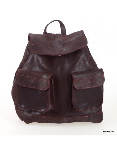 Plecak damski skórzany tsm1601 brązowy
