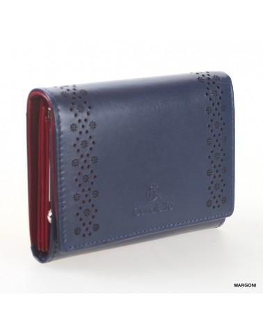 Portfel damski canaletto 1208 niebieski-czerwony