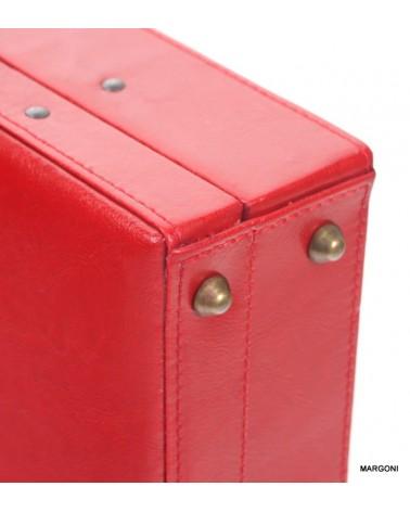 Neseser damski skórzany perfekt n-3 czerwony
