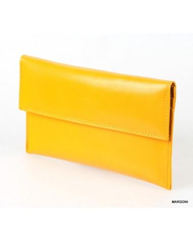Portfel damski skórzany saccus pd-107 żółty