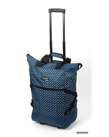 Kabinowa torba na kołach punta 5020 niebieska