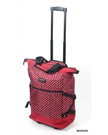 Kabinowa torba na kołach punta 5020 czerwona