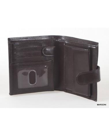 Portfel skórzany męski marco pm-616B brązowy