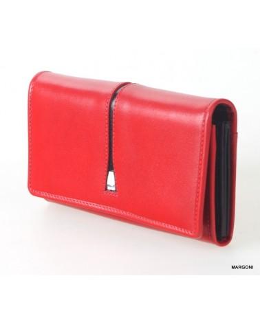 Portfel damski saccus pdc-119-1 czerwony