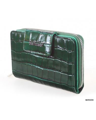 Portfel damski skórzany bellucci d-58 zielony