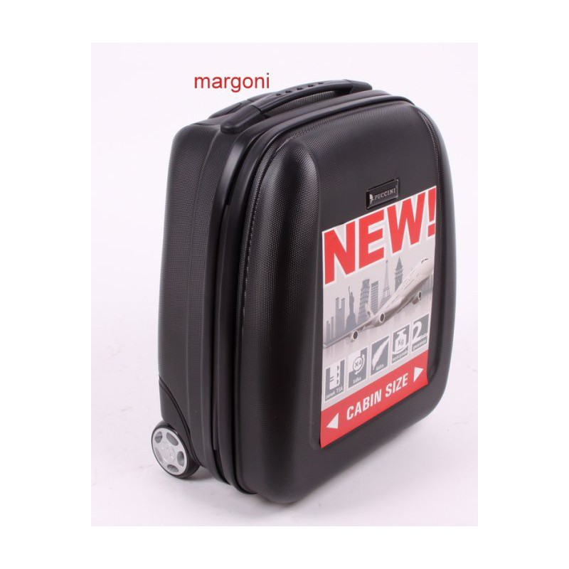 0063654f07953 Mała walizka puccini abs01 d czarna - Walizki twarde - 2 koła ...